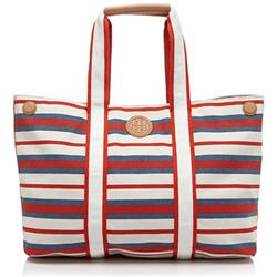 Tory Burch Printed Canvas Tote Handbag