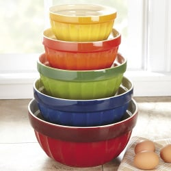 CHEFS 5-Piece Stoneware Mixing Bowl Set
