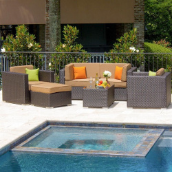Lakeview Outdoor Designs Avery Island 4-Person Resin Wicker Patio Sectional Seating Set (2877264)