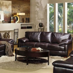 Hartford Leather Living Room 3 Piece Set by Quest Furniture