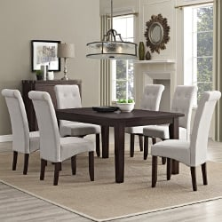 Simpli Home 7 Piece Cosmopolitan Dining Set