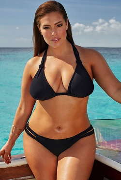Ashley Graham x swimsuitsforall Double-Cross Black Bikini