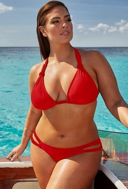 Ashley Graham x swimsuitsforall Double-Cross Siren Bikini