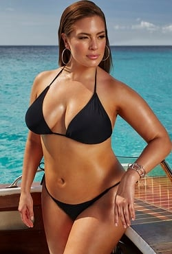 Ashley Graham x swimsuitsforall Espionage Black Bikini
