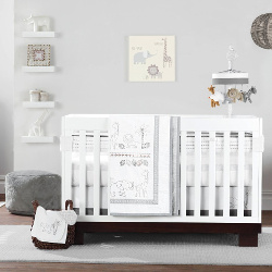 Just Born Animal Kingdom 3 Piece Crib Bedding Set