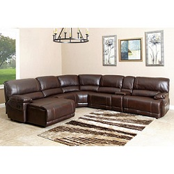 Abbyson Living Carrington 6-Piece Sectional Sofa