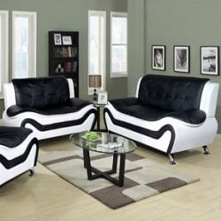 Beverly Fine Furniture Linda 3 Piece Leather Living Room Set