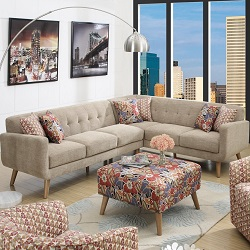 Emerald Home U4291-05-K Boho 2 Piece Sectional Sofa