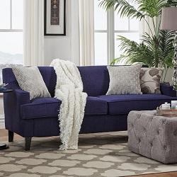 Inspire Q Winslow Linen Fabric Modern Sofa