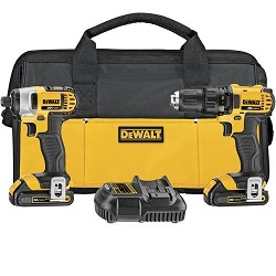 DeWALT DCK280C2R 20V MAX Lithium Ion Compact Drill & Impact Driver Combo Kit