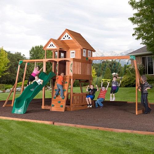 Leisure Time Products Worthington Cedar Playset