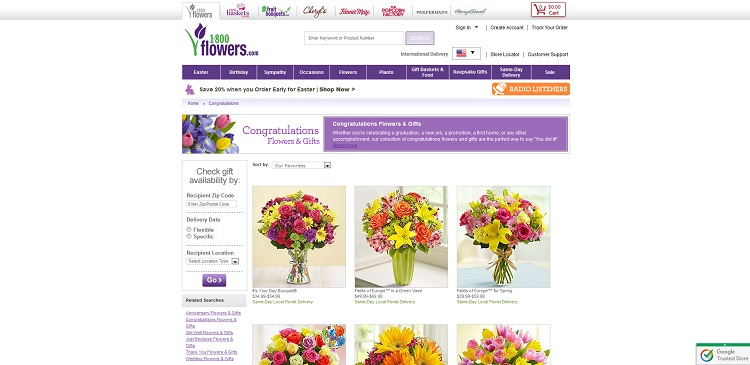 1800Flowers.com Graduation Gifts