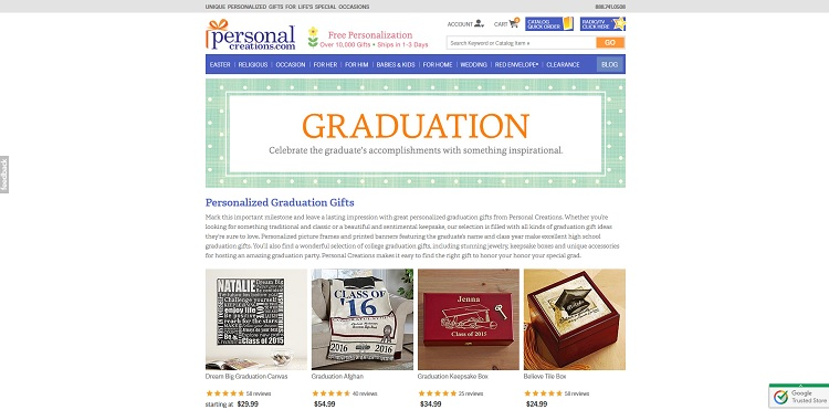 Personal Creations Graduation Gifts