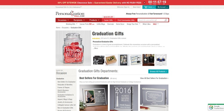 Personalization Mall Graduation Gifts