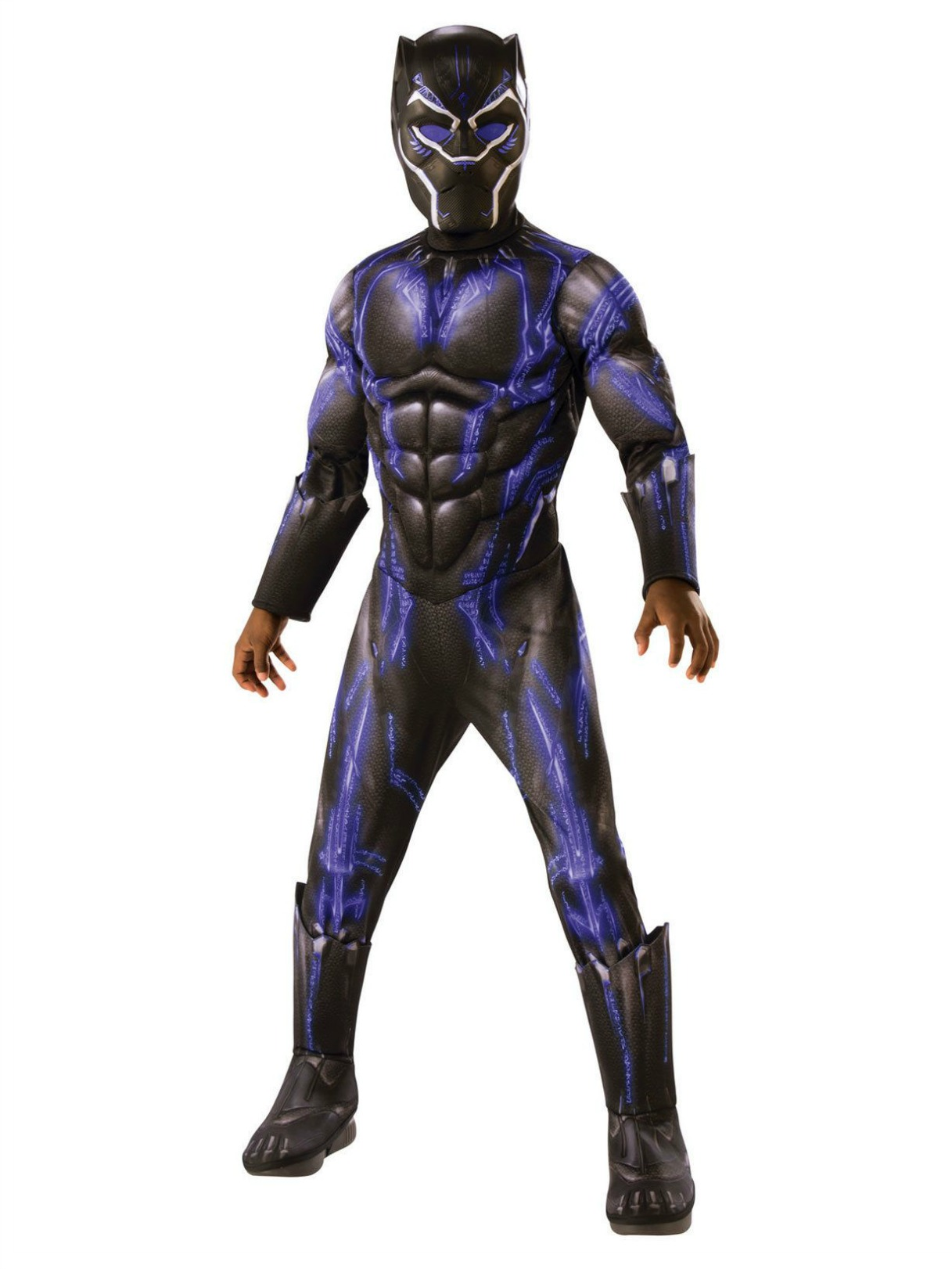Marvel Black Panther Movie Deluxe Black Panther Battle Suit Costume