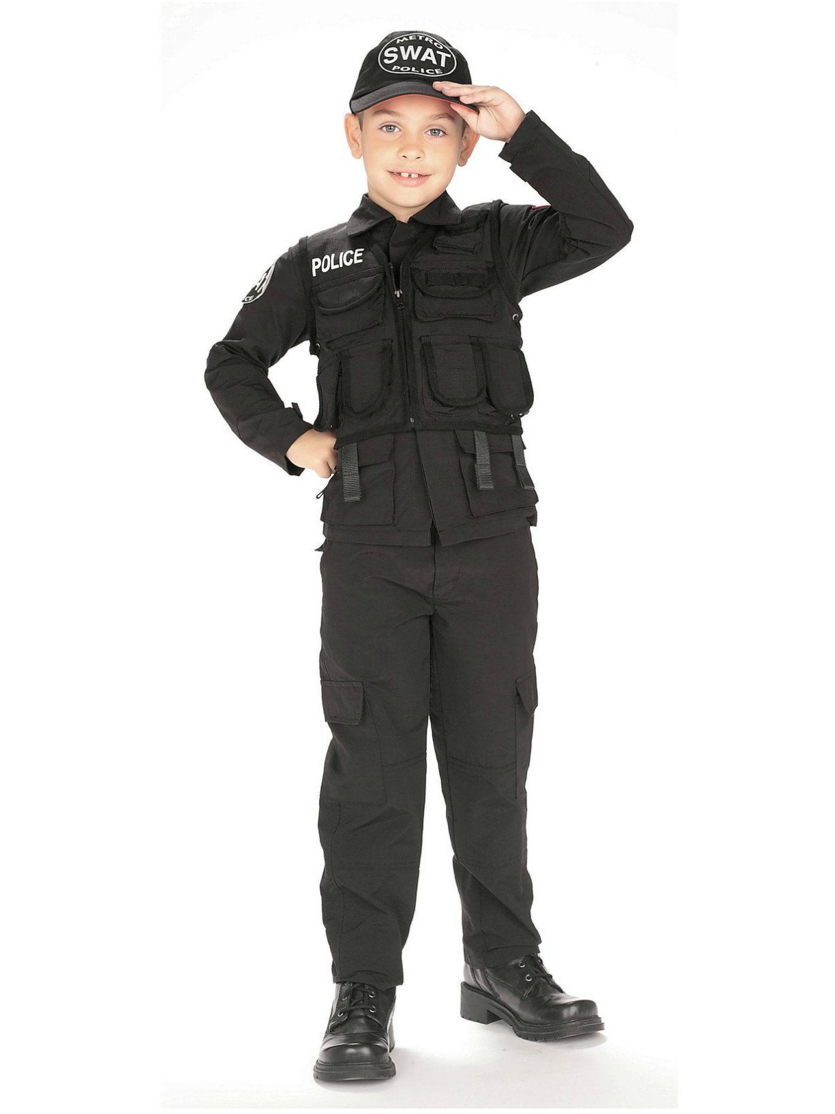 SWAT Police Childrens Costume