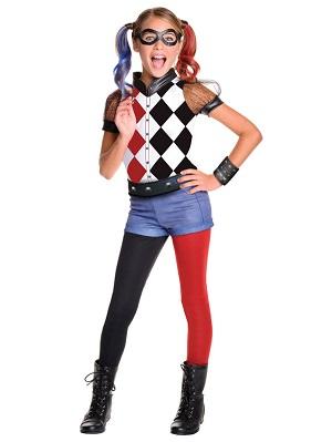 DC SuperHero Harley Quinn Deluxe Girl's Costume