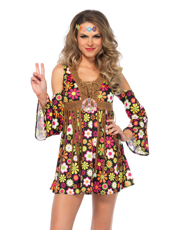 Women's Sexy Starflower Hippie Dress Costume