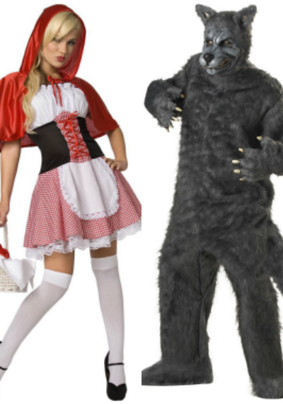 Little Red Riding Hood & Wolf Couples Costumes