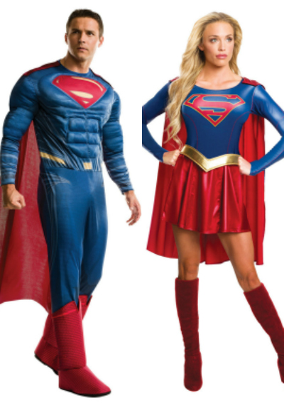 Supergirl & Superman Couples Costume