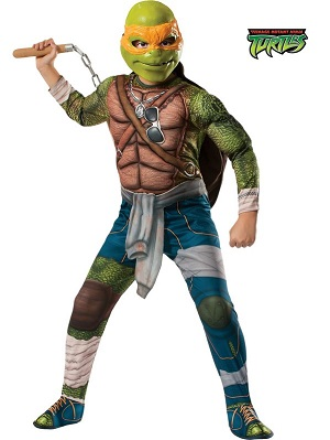 Teenage Mutant Ninja Turtle's Deluxe Michelangelo Costume