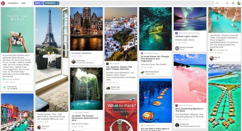 Pinterest Board Idea - Travel Destinations