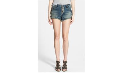 Free People Cutoff Shorts in Jillian Blue