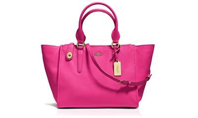 COACH Crosby Carryall Satchel in Crossgrain Leather