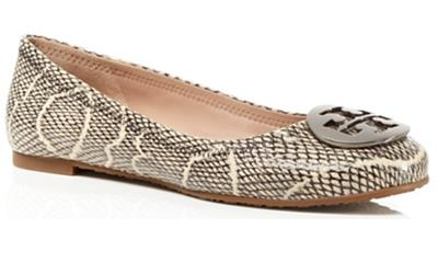 Tory Burch Cobra Embossed Reva Ballet Flats