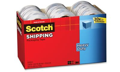 Scotch 3850 Heavy-Duty Packaging Tape (18-Rolls)