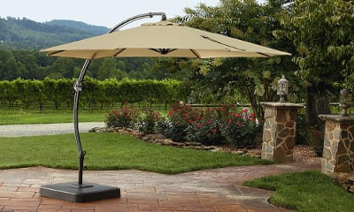 Garden Oasis 11.5 Ft. Steel Round Offset Umbrella