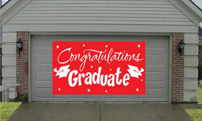 Congratulations Graduate Gigantic (Red) Greeting Sign