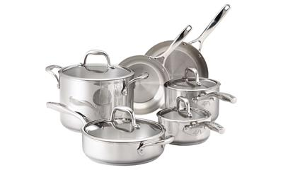 Guy Fieri Stainless Steel 10pc Cookware Set
