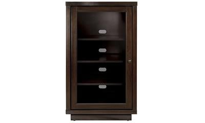 BellO Enclosed Audio Video Component Espresso Cabinet