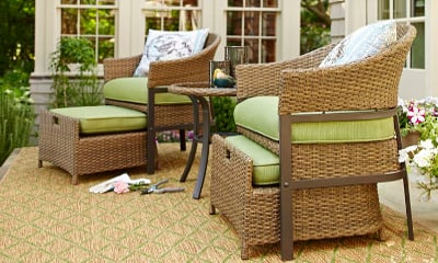 Garden Treasures 5-Piece Cape Verde Brown Steel Patio Conversation Set