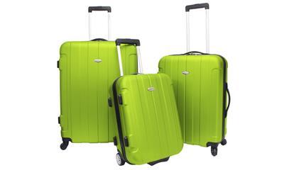 Travelers Choice Rome 3pc Hardside Spinner Luggage Set