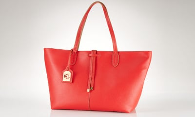 Lauren Ralph Lauren Crawley Leather Tote