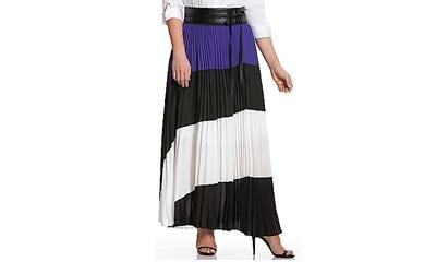 Lane Bryant Colorblock Maxi Skirt