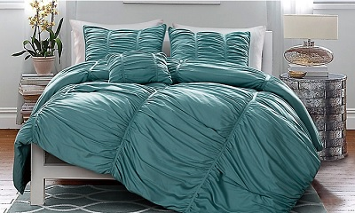 Victoria Classics Madeira Pleated 4-Piece Oversized Comforter Set
