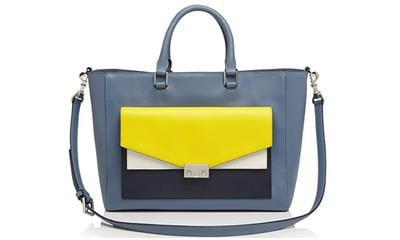 Tory Burch T-Lock Colorblock Tote
