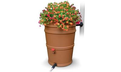 EarthMinded RainStation 45 gal. Terracotta Rain Barrel with Diverter