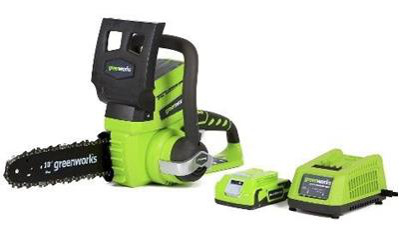 GreenWorks 20362 G-24 10-Inch Cordless Chainsaw