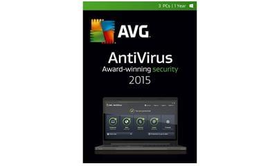 AVG AntiVirus 2015 3 User 1 Year (Download)