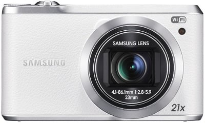 Samsung WB380 16.3-Megapixel Digital Camera (White)