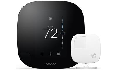 ecobee3 Wi-Fi Smart Thermostat with Remote Sensor