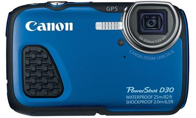 Canon PowerShot D30 12.1MP Waterproof Digital Camera (9337B001)