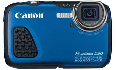 Canon PowerShot D30 12.1MP Waterproof Digital Camera (9337B001)