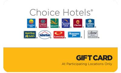 $100 Choice Hotels Gift Card for $90