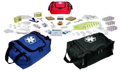 Dixie EMS First Responder Fully Stocked Trauma First Aid Kit