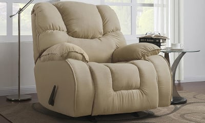 Dorel Signature Windsor Beige Microfiber Rocker Recliner